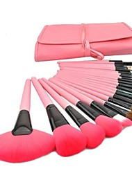 Professional Cosmetic Makeup Brushes Set Pink Black Multicolored 24 PCS