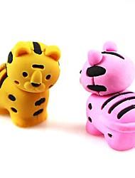 schattige detachablelittle tijger vormige gum (willekeurige kleur x 2 stuks)