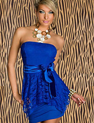 Women's Dresses , Lace/Polyester Bodycon/Party QSMX