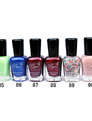 French Imports Makings Pro-environment Nail Polish NO.85-90(16ml,Assorted Color)