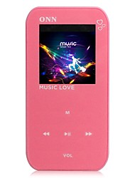 "ONN Q2 Ultra-Slim 1.5"" Screen MP3 Player with   Recording  FM -Red(4GB)"