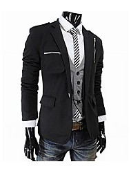 Zian® Men's Lapel Fashion Multi-Pocket Casual Single-Breasted Solid Color Slim Suit O