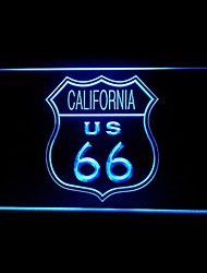 Route 66 US California Advertising LED Light Sign