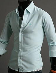 Men's Stripes Casual Long Sleeve Shirts A