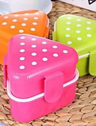 Japanese Style Small Triangle Sushi Box (Random Color)