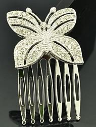 3cm Aleación y Rhinestone Pequeña mariposa peine del pelo de la mujer de la joyería