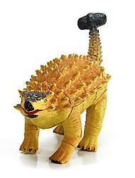 Montage ankylosaur Dinosauriermodell Gummibildungs Action-Figuren Spielzeug (gold)