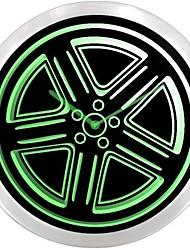Pneu Roue de voiture de sport enseigne au néon Horloge murale LED