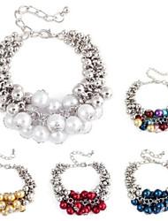 Elegante Uvas Styling Las gotas de la perla pulsera hecha a mano (1 PC)