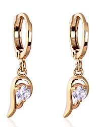 Women's Fashion Unique Design 18K Gold Plating Zircon Earrings