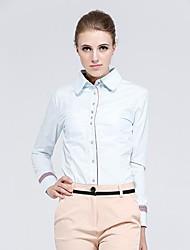 Women's Solid Shirt , Shirt Collar Long Sleeve