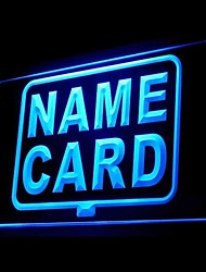 Name Card Shop Advertising LED Light Sign
