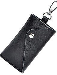 Fashion Genuine Leather Wallet Key Purses Key Cases Card Holder with1 Card Slots,6 Key Chains