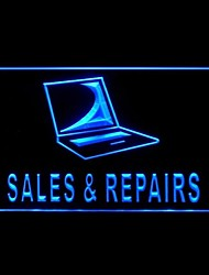 Computer Sales Repairs Advertising LED Light Sign