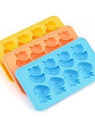 Canard de bande dessinée glace Moule en silicone Ice Cubes (couleur aléatoire), silicone
