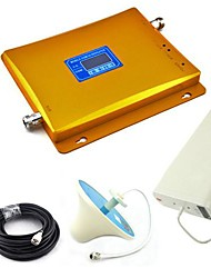 LCD Display GSM & 3G W-CDMA Mobile Phone Dual Band Signal Booster + Log Periodic Antenna + Ceiling Antenna with Cable