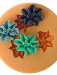 Flower Shaped Bake Fondant Cake mold,L4.7cm*W4.7m*H1cm