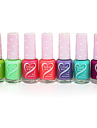 Fragrance Oily Nail Polish with Love Design Bottle NO.15-21(7ml,Assorted Color)