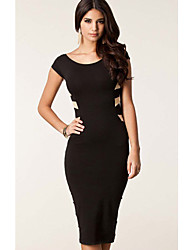 Ricci Women's Round Neck Backless Dress