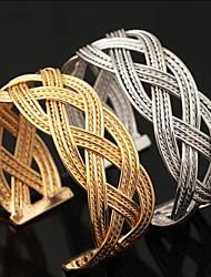 u7® nueva cosecha grande 18k oro grueso platino plateado lleno de brazaletes de la pulsera del manguito de los hombres de las mujeres