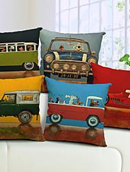 juego de 5 de dibujos animados de algodón controlador perro / ropa cubierta decorativa almohada