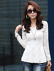à long lacet de douille solide couleur de chemise moulante des femmes SSMN