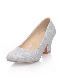 Sparkling Glitter Women's Chunky Heel Pumps Shoes(More Colors)