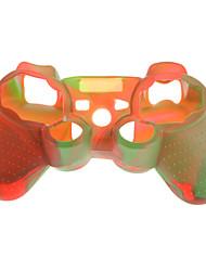 Case Skin camuflagem protetora de silicone para PS3 controlador