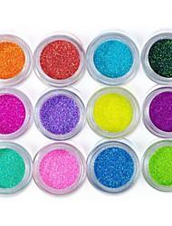 12-color Glitter Foil Powder Nail Art Decorations(Random Color)