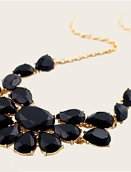 Ожерелье с крупными стеклянными камнями