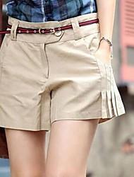 Women's Black/Yellow Shorts Pants , Vintage/Casual/Work