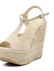 IPIEN Flange Slipsole Sandal (Beige)
