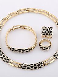 westernrain strass ensemble de bijoux plaqué or des femmes