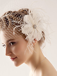 Wedding Veil One-tier Blusher Veils 10-20cm Tulle White / Ivory