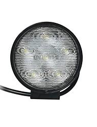 18W 6000K Flood 6 Epistar LED duplas linhas Circular Trabalho Light Bar DIY usados em carro / barco / Auto Farol