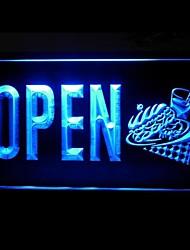 Abrir Sanduíches Cafe Verde Azul Vermelho Branco Laranja Roxo Amarelo Publicidade LED Sign