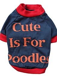Cute Poodles Pattern 100% Cotton T-Shirt for Dogs (XS-XXL)
