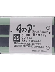 "3.6V ""1000mAh"" Rechargeable Cordless Phone Replacement Battery Pack"