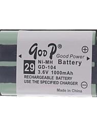 "3.6V ""1000mAh"" Аккумуляторная беспроводной телефон замена аккумулятор"
