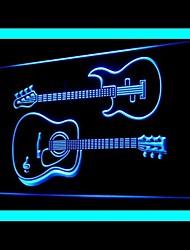 Music Rock Roll Guitar Advertising LED Light Sign