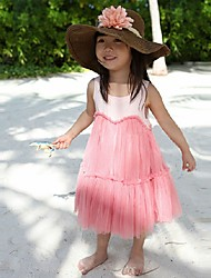 Girl's Dress,Solid Cotton Summer