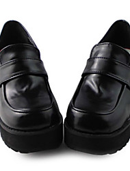 Handmade Mysterious Couro sete centímetros Black Girl PU salto alto Gothic Lolita Shoes