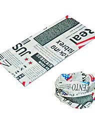 BOODUN English Newspaper Multi-Functional Seamless Polyester Spandex Magic Scarf Headband