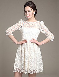 Women's Dresses , Lace/Organza OF