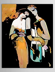 Hand Painted Oil Painting People  Lovers Wall Pictures with Stretched Frame