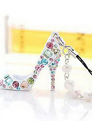 Lucky Doll Women's Diamonade High Heel Shoes Pattern Pendant