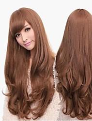 Long Length Side Bang 22 Inch Light Brown For Beautiful Girl