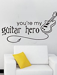 Createforlife® You are My Guitar Hero Kids Nursery Room Wall Sticker Wall Art Decals