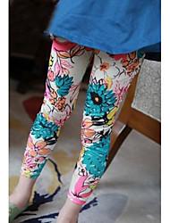 Girl's Fashion Joker Bright Big Flower Leggings