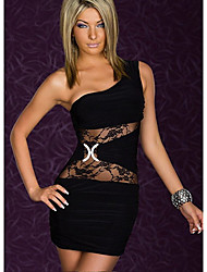 Sweet Women's One Shoulder Lace Bodycon Dress